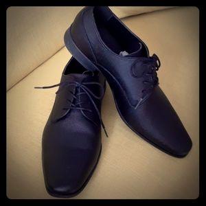 Calvin Klein  Klein Men's Black Dress Shoes